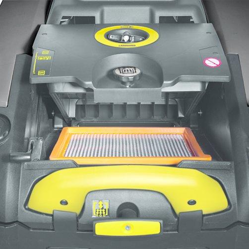 带机械过滤器清洁的高效过滤器系统