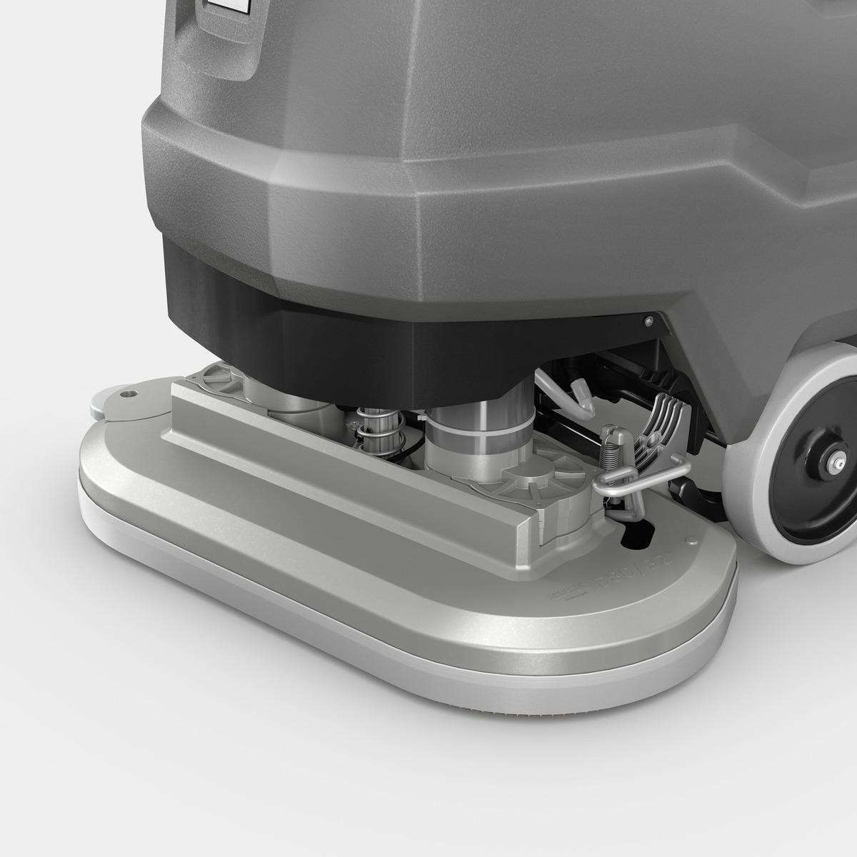 压铸铝洗地盘刷,带缓冲装置,耐用性更强