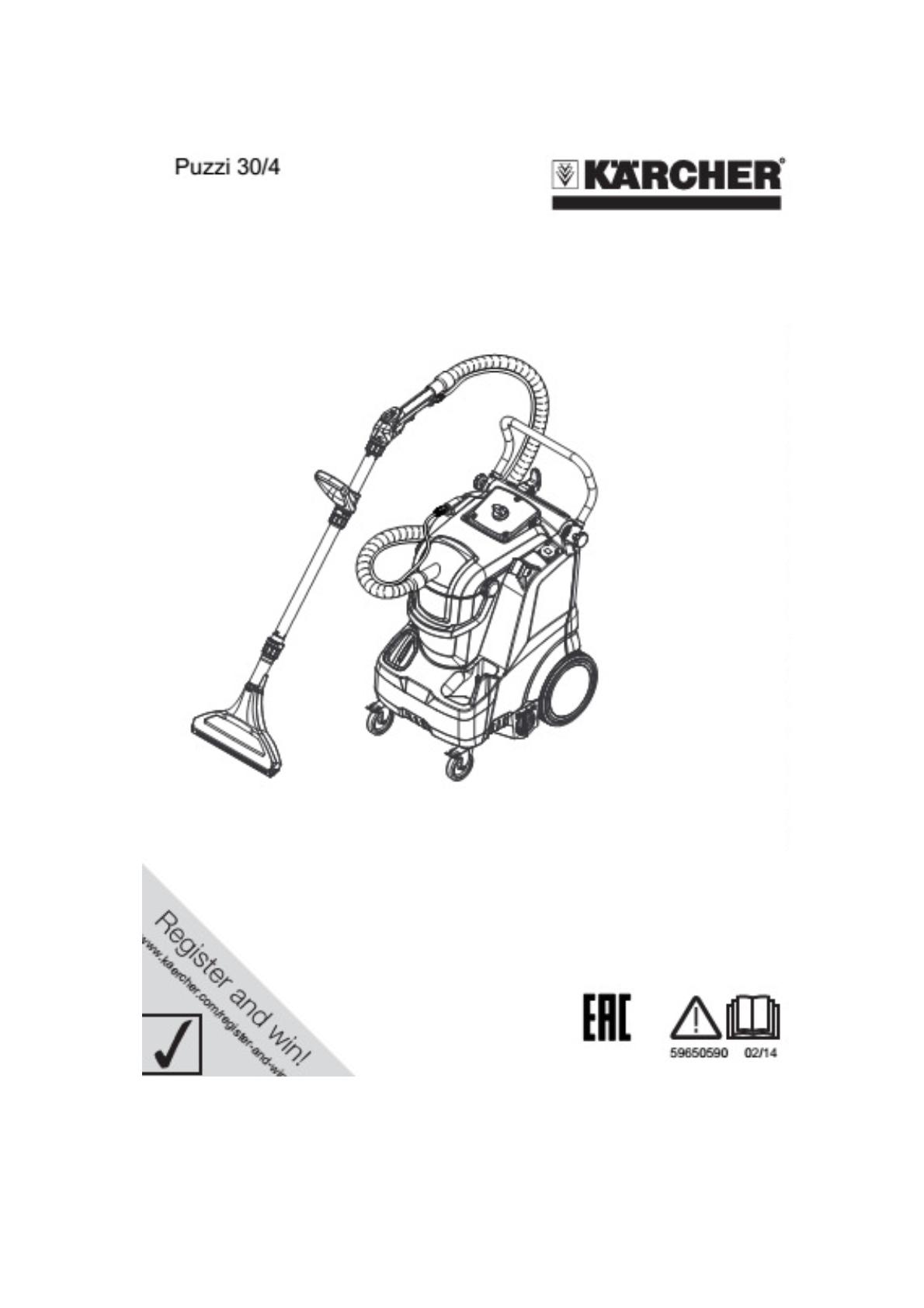 地毯清洗机 PUZZI 30/4 说明书说明书下载