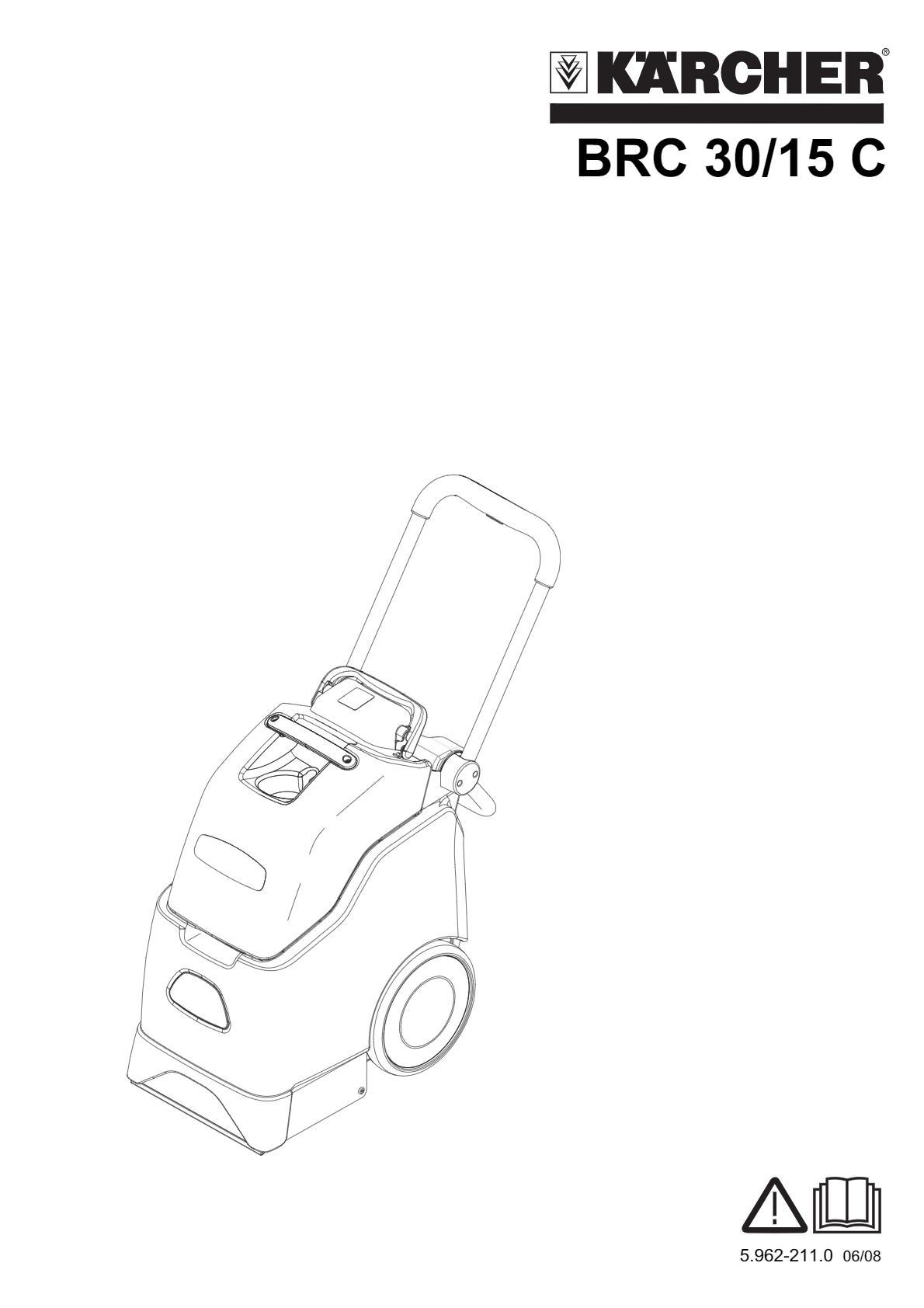 地毯清洗机 BRC 30/15 说明书说明书下载