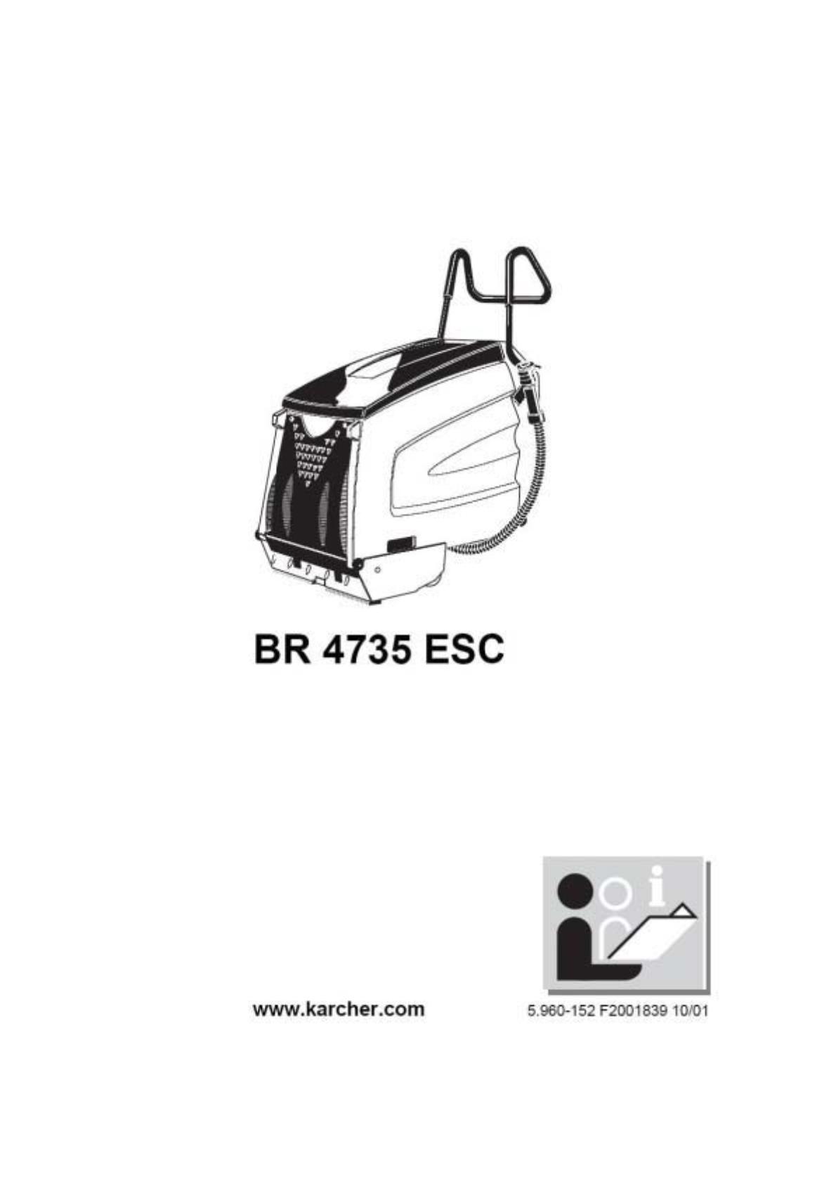 楼梯和扶梯清洗机 BR 47/35 Esc 说明书说明书下载