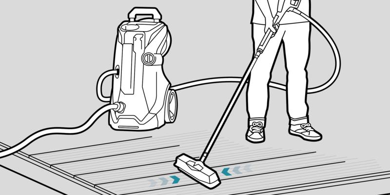 步骤二:擦洗院子