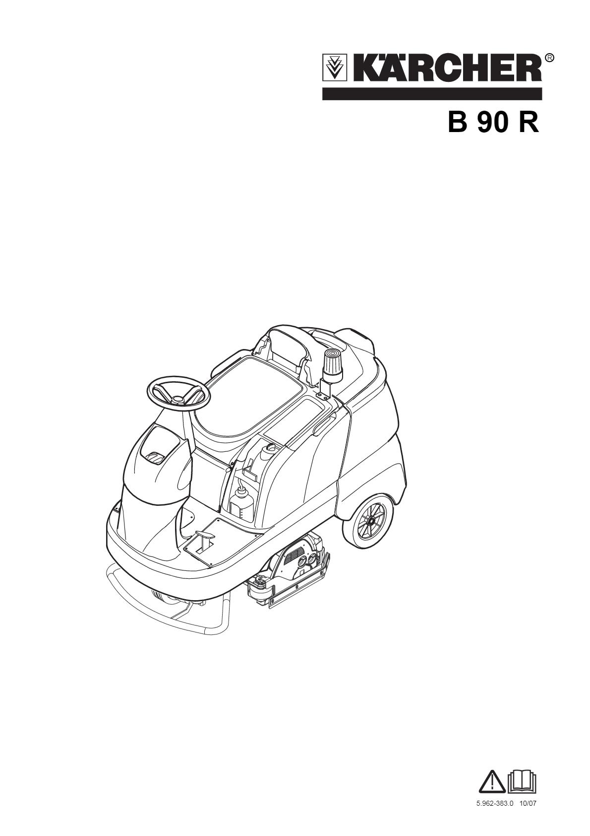 洗地吸干机 B 90 R 说明书说明书下载