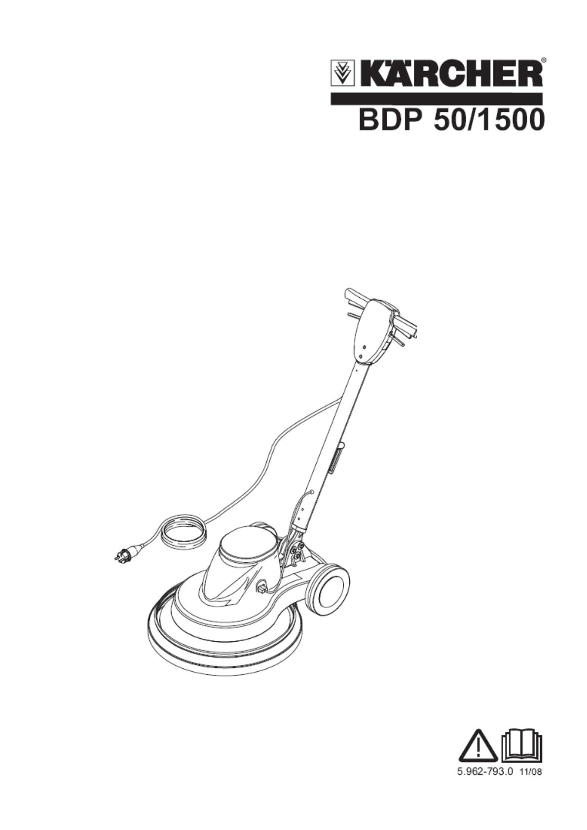 抛光机 BDP 50/1500 C 说明书说明书下载