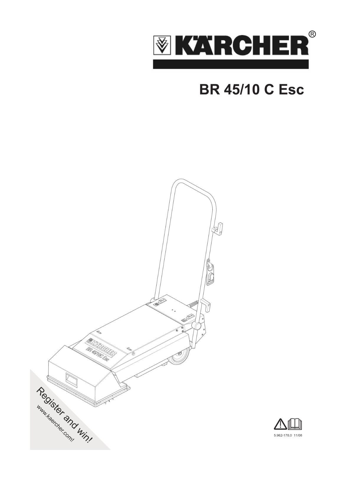 扶梯清洗机 BR 45/10 ESC  说明书说明书下载