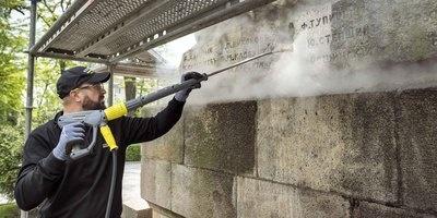 运用蒸汽减压模式清洗 保加利亚医生纪念碑