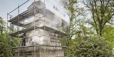 环保蒸汽清洗,防止进一步损坏保加利亚医生纪念碑