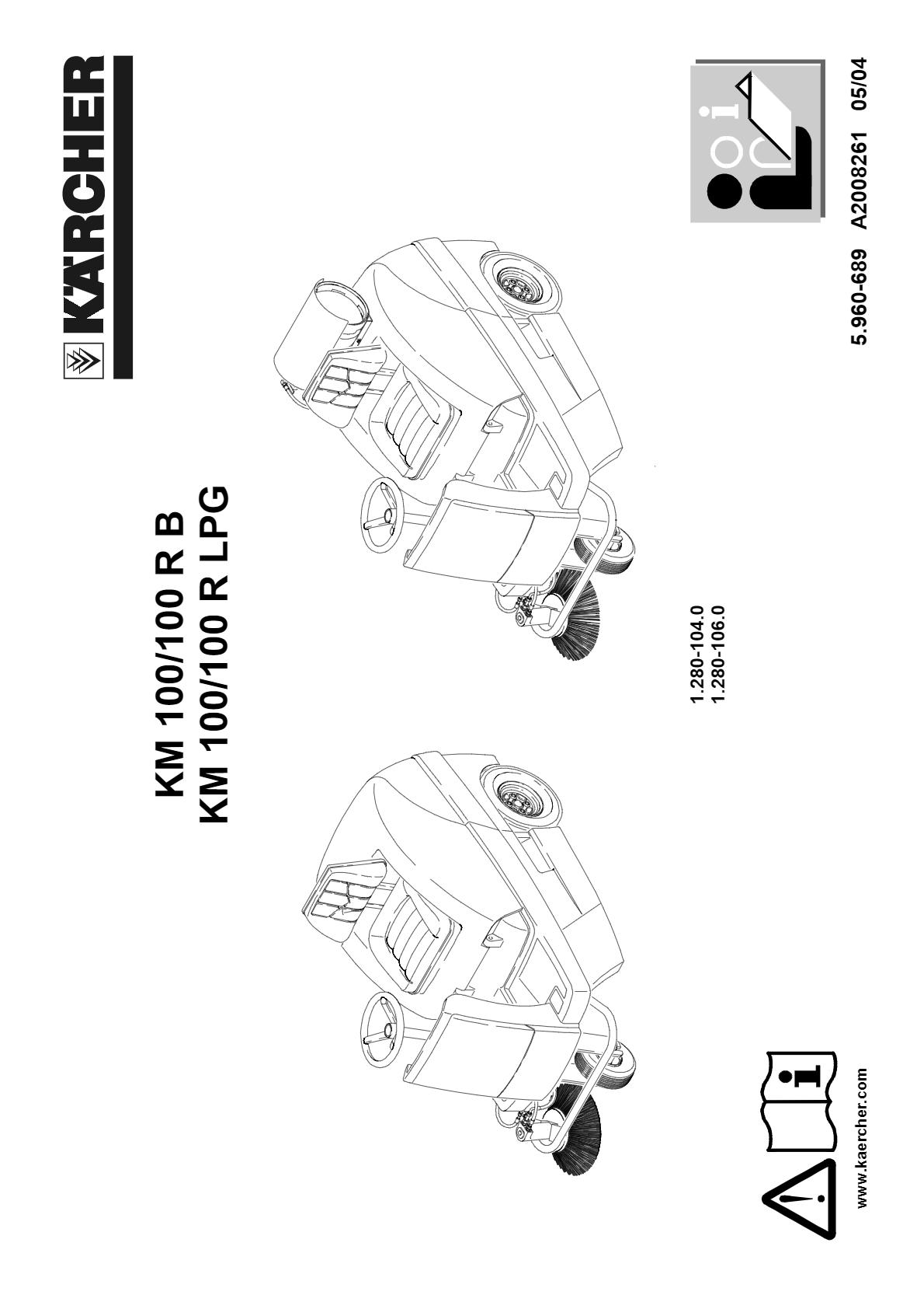 驾驶式扫地机 KM 100/100 R Bp  说明书说明书下载