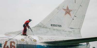 莫尼诺喷气式飞机的清洗过程