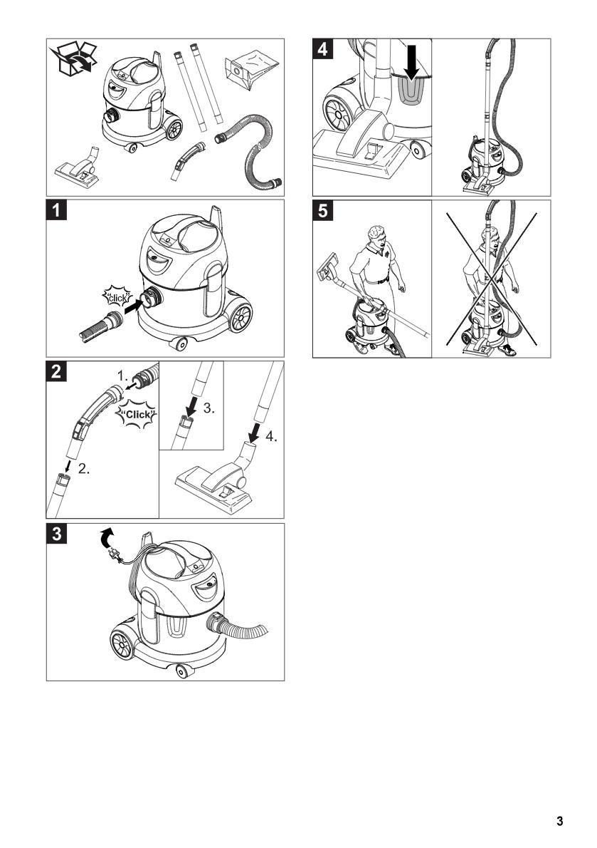 干式真空吸尘器 T10/1说明书下载