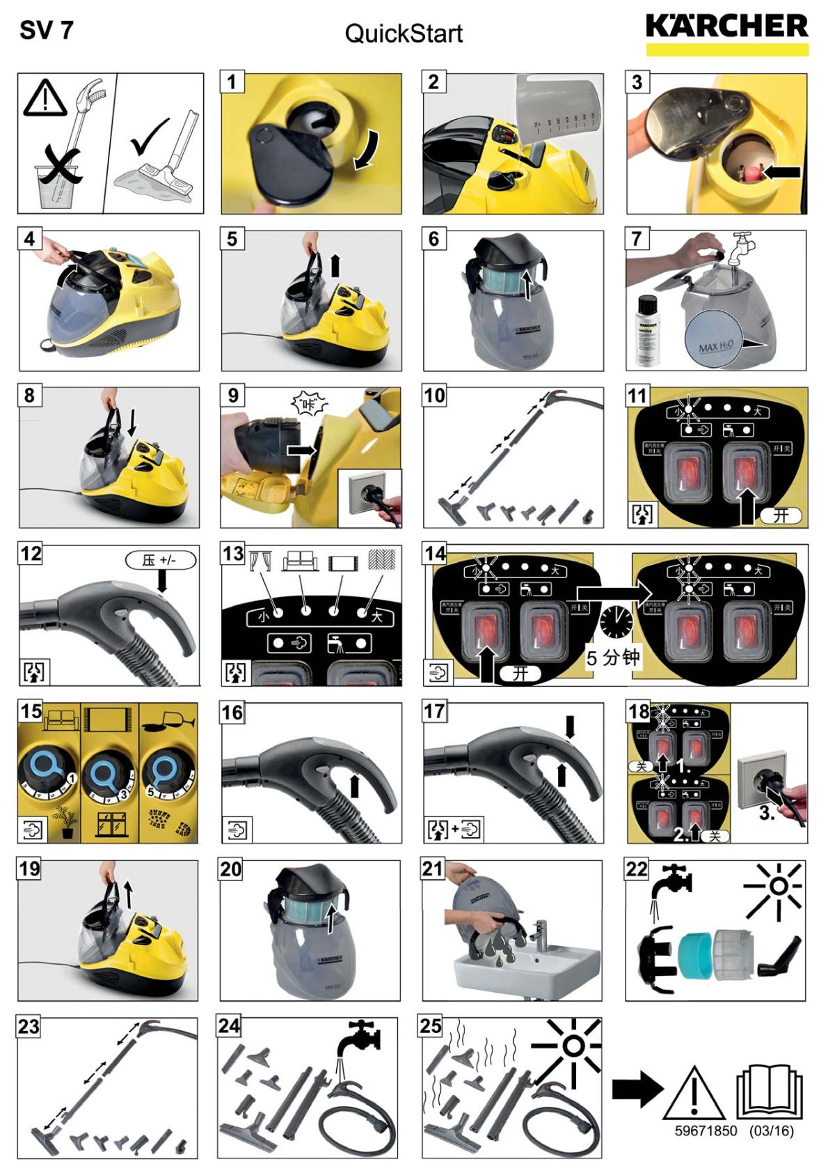 蒸汽吸尘器 SV 7说明书下载