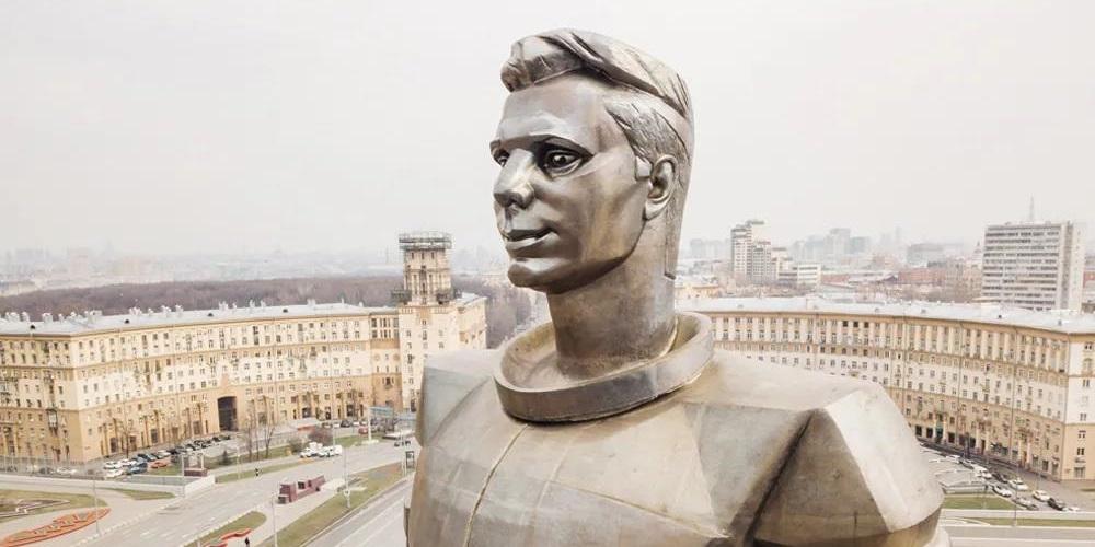 尤里·加加林纪念碑 - 莫斯科,俄罗斯